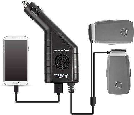 Kingwon Mavic 2 Drone Ladegerät Zubehör 3 In 1 Dual Batterie Kfz Ladegerät Für Dji Mavic 2 Pro 2 Zoom Drone Batterie Mit Usb Ausgang Spielzeug