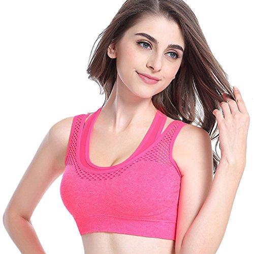 chendongdong - Sujetador deportivo - para mujer Hot Pink