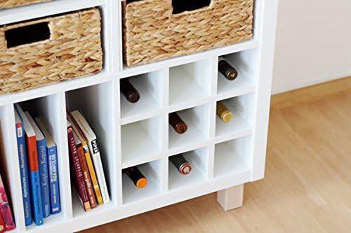 Ikea Kallax. Uso para botellas (Color Blanco)
