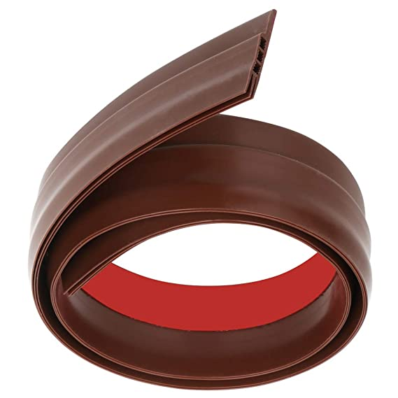 Self-Adhesive Rubber Draught Strip 90 x 5cm Brown TRIXES Under Door Draft Excluder