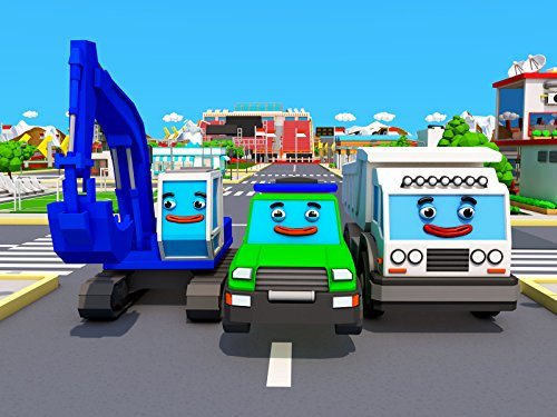 Learning colors with the Excavator, the Tow Truck and the Truck