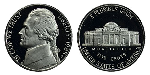 1985 S Proof Jefferson Nickel PF1