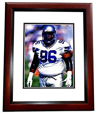 Autographed Cortez Kennedy Photo - 8x10 inch MAHOGANY CUSTOM FRAME Guaranteed to pass or JSA Deceased 2017 - PSA/DNA Certified