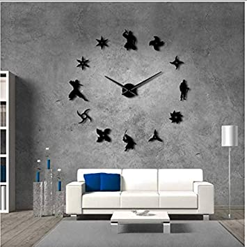 kuamai Shinobi Japon Ninja DIY Reloj De Pared Gigante ...