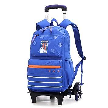 ZEVONDA Unisex Mochila con Ruedas - 30x14x44cm Mochilas Escolares Desmontable Viajar Trolley Mochila para Infantil, Azul, 30x14x44cm: Amazon.es: Equipaje