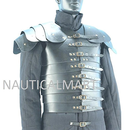 NAUTICALMART Lorica Segmentata Roman Leather Body Armor LARP