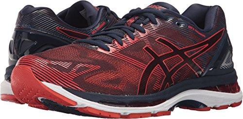 ASICS Men's Gel-Nimbus 19 Running Shoe, Peacoat/Red Clay/Peacoat, 9.5 Medium US