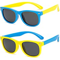 FANDE Kids Gafas de Sol, 2 Piezas Gafas Niño Sol, Kids Sunglasses Polarizadas Flexibles de Goma,…