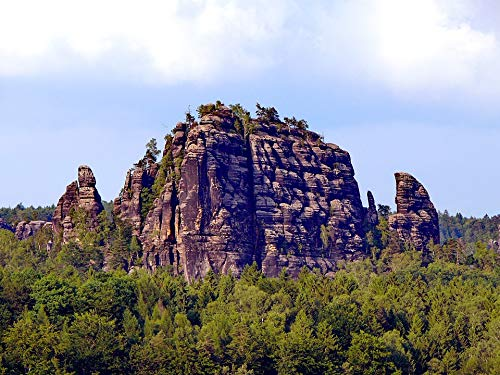 Home Comforts Canvas Print Wood Rocks Hill Outdoor Natural Vivid Imagery Stretched Canvas 32 x 24 (Rock Rock Hill)