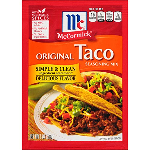 McCormick Taco Seasoning Mix, 1 oz (Pack of 24)