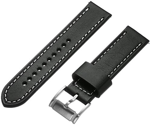 Fossil S221244 22mm Leather Calfskin Black Watch Strap