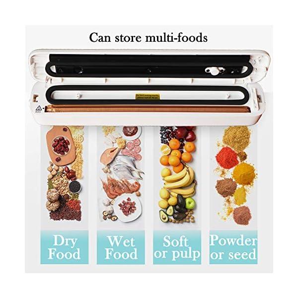Homeslct Macchina Sottovuoto Professionale per Alimenti, Sigillatore Sottovuoto con 1 Tubo Accessorio e 5pz Sacchetti… 5