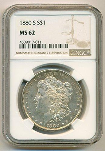 1880 S Morgan Silver Dollar MS62 NGC