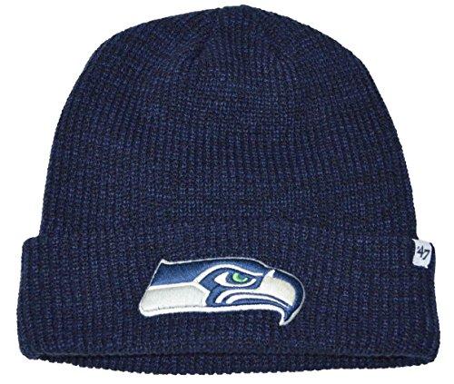 システムブラジャー擬人NFLシアトルシーホークスランカスターCuffビーニーニット帽子ネイビーブルー
