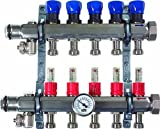 Viega 15902 ProRadiant Stainless Manifold Shut-Off/Balancing/Flow Meter with 4 No. of Outlets