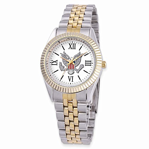 Two-tone Alloy & Stainless Steel Round Dial US Army Watch by viStar