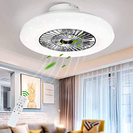 Amazon Com Dllt Led Remote Ceiling Fan With Light Kit 40w Modern Dimmable Ceiling Fan Lighting 7 Invisible Blades Ceiling Fans 23 Inch Ceiling Lighting Fixture Flush Mount 3 Color Changeable 3 Files Timing