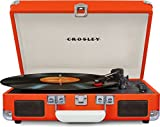 Crosley CR8005D-OR Cruiser Deluxe Portable 3-Speed Turntable with Bluetooth, Orange