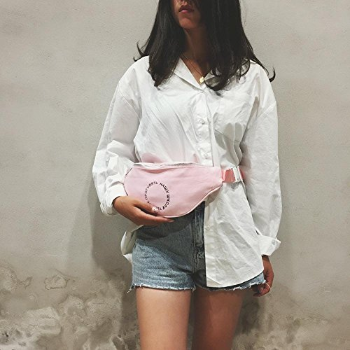Waist Canvas Belt Fanny Chest Bag Shoulder Pack Pouch Ecotrump Women Satchel Pink Casual aZ5pqqTxw