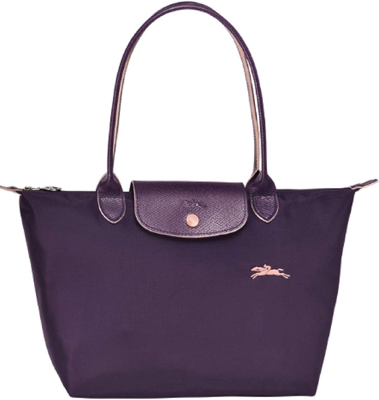 Longchamp Le Pliage Club Large Shoulder Tote (Purple, Bilberry)