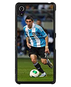 Sony Z2 Funda Case - Football Player Printed HD Pattern Personalized Nice Grace Drop Protection Durable Hard Plastic Funda Cases and Covers Compatible With Sony Xperia Z2 (Not for Z2 V / Z2 Compact)