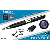iSmartPen Plus 32GB Silver - Surveillance DVR Pen - 1280p x 960p - Business Executive Portable Educational Professional Documentation Device - Rechargeable Battery