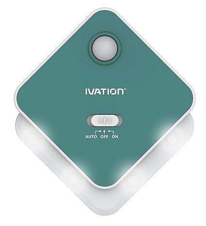 Ivation 4-LED. Sensor de movimiento y de luz - VERDE - limentado por