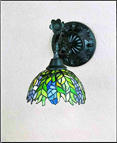 - Victorian Tiffany Honey Locust 1 Light Wall Sconce