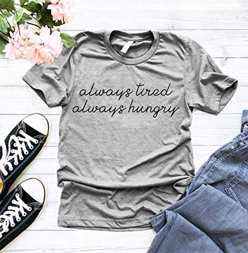- Always Tired, Always Hungry Crewneck Tee, Graphic Tee, Funny Shirt, Unisex Shirt, Workout Shirt, Gym Tee, ladies unisex crewneck shirt
