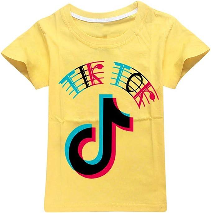 Camiseta de niño TIK Tok de algodón suave camiseta tops niños unisex verano tops ropa exterior: Amazon.es: Ropa y accesorios