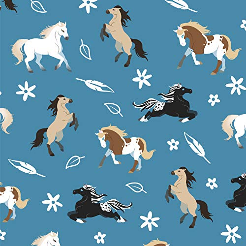 GRAPHICS & MORE Frolicking Horses Pattern Premium Roll Gift Wrap Wrapping Paper