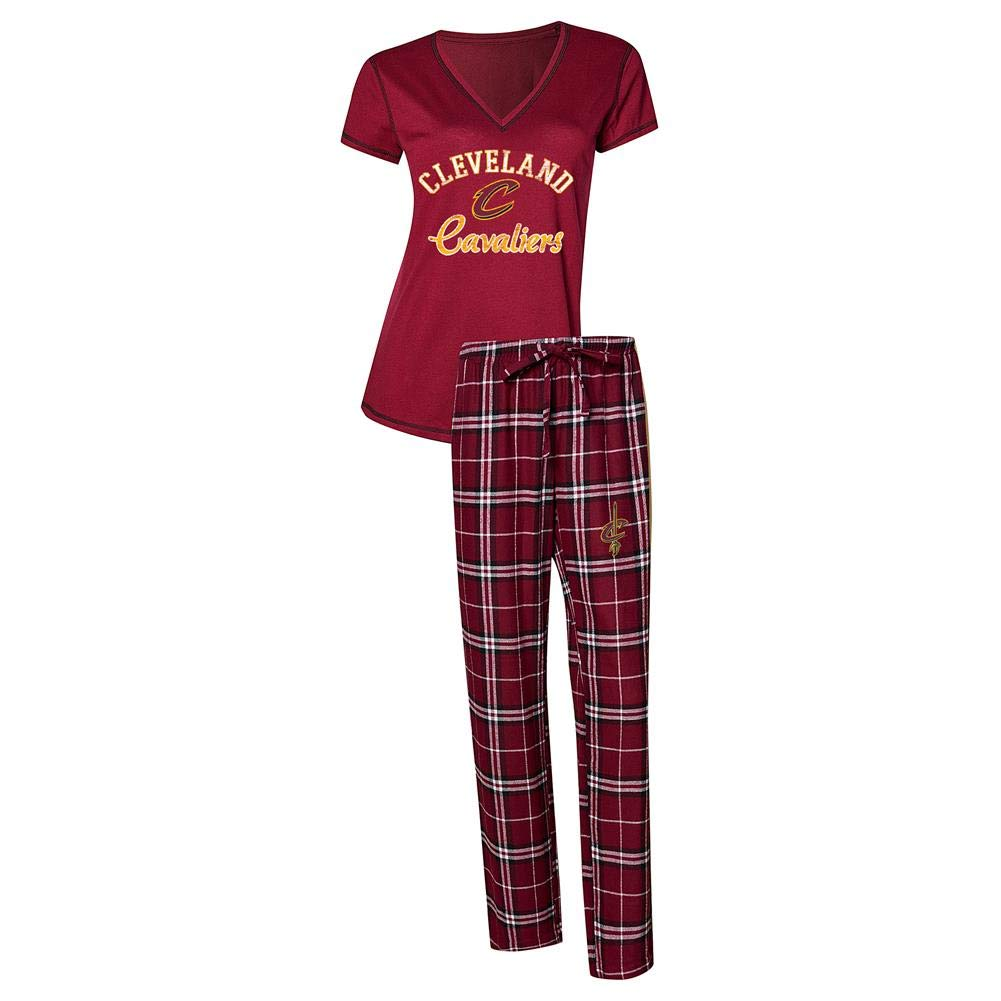 Concepts Sport Womens NBA Duo Flannel Pajamas and Top Sleep Set