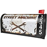 NEONBLOND Rusty old look car Street machine Magnetic Mailbox Cover Custom Numbers