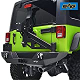 EAG 07-18 Jeep Wrangler JK Rear Bumper W Tire Carrier W Linkage