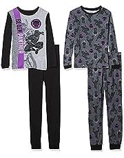 Marvel Boys' Black Panther Snug Fit Cotton Pajamas
