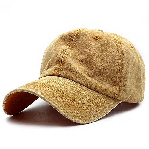 washed twill cotton baseball cap
