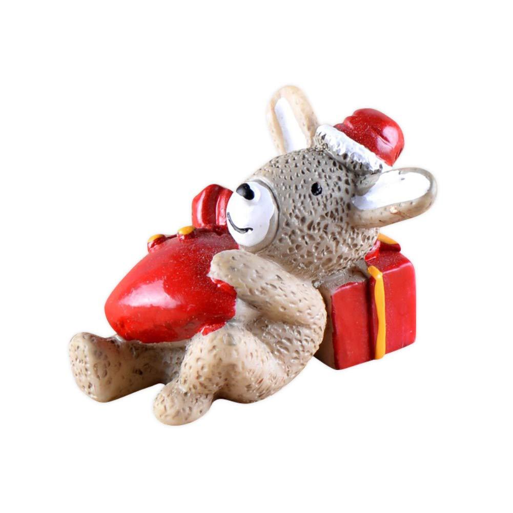 yutang Christmas Animals Toys,Christmas Animals Household Adornment DIY Craft Home Decoration