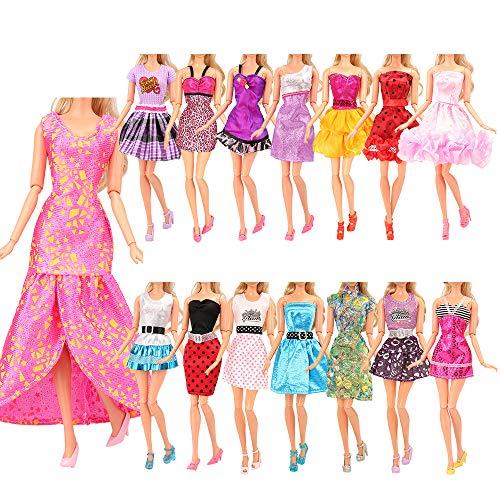 BARWA12PCS 미니 드레스 인형 의류 액세서리 11.5 인치 소녀 인형