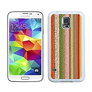 Slim S5 Case Flowers Grass Stripe Hit Color Best New Samsung Galaxy S5 White Cover by icecream design