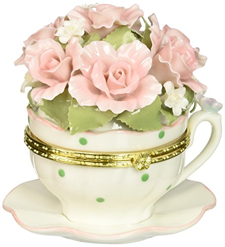 Cosmos 80048 Fine Porcelain Musical Collection Figurine, 4-1/4-Inch