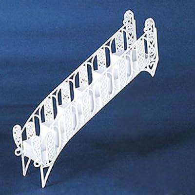 Cakesupplyshop Item# 677y Elegant White Tiered Wedding Cake Step Decoration Stair - 1piece