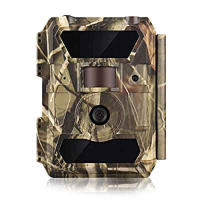 WingHome Trail Camera, 1080P 12M Night Cameras for Wildlife with Night Vision No Glow Infrared Outdoor Wildlife Camera Motion Activated Waterproof Hunting Camera for Home Backyard Wildlife Photograph