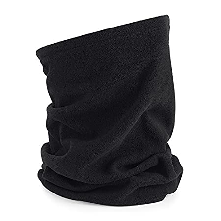 MK Motorcycle Motorbike Cycling Lightweight Neck Warmer Tube Balaclava Scarf Snood (Microfleece Black) MKR