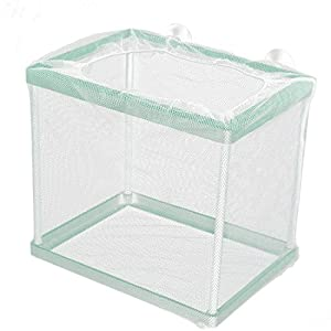 uxcell Aquarium Fish Tank Floating Box Isolation Shrimp Cage Breeding Net White Green by uxcell