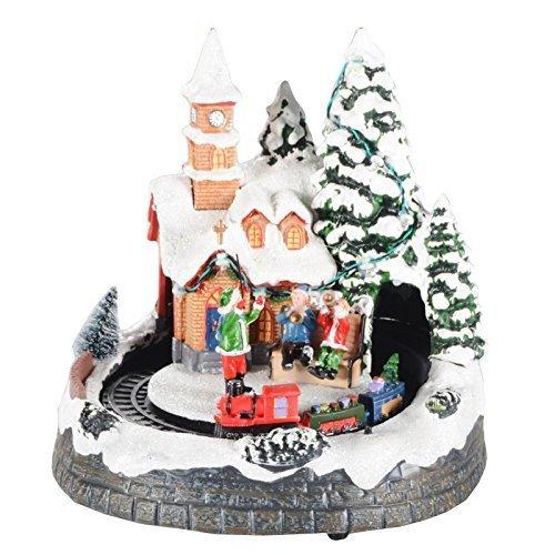 Weihnachtsdeko Weihnachtsdorf.Druline Weihnachtsdorf Mit Licht Und Musik Weihnachtsdeko Weihnachten Dekoration Musik Dirigent