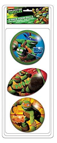 (Ninja Turtles 3 Pack Foam Ball)