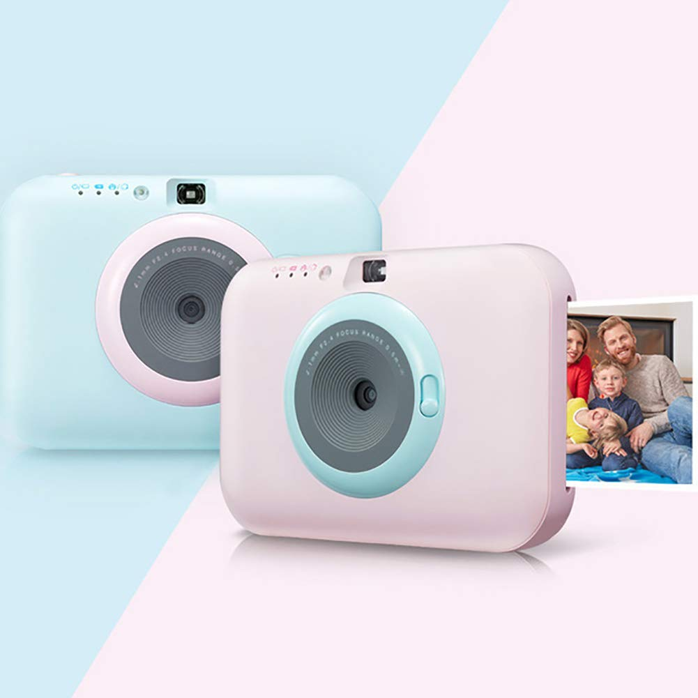 SFXYJ Instant Photo Printer,Mini Portable Pocket Color Wireless+Camera Function,Blue by SFXYJ (Image #1)