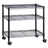 Honey-Can-Do 3-Shelf Portable Multimedia Cart, Black