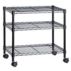 When the holidays come around, you don't deck the halls, you tech the halls. That's why you sang Hallelujah! When you discovered this 3-Shelf Portable Multimedia Cart. Constructed from sturdy steel and coated in luxe black, this rolling stand...