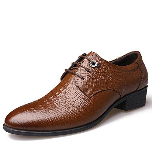 Brown à pour Mariage Chaussures Hommes en de Chaussures Lacets LEDLFIE pour Véritable Chaussures Cuir Hommes 60OzgOqw